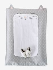 Nursery-Changing Mats-Changing Mat Cover, Cat Theme