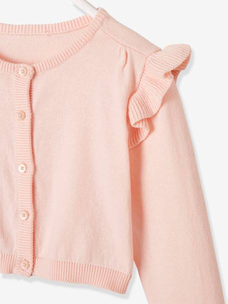 Short Cardigan for Girls BLACK DARK SOLID+BLUE DARK SOLID+PINK LIGHT SOLID