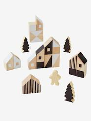 Toys-Puzzles & Building Games-Wooden Building Blocks, by Ville, 58 Pieces