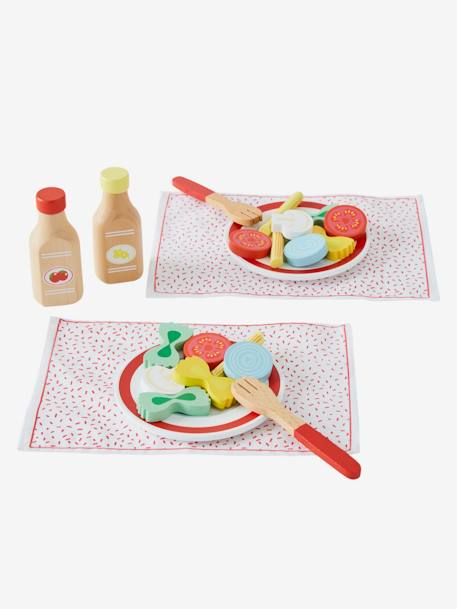 Set of Different Wooden and Fabric Pastas YELLOW MEDIUM SOLID WTH DESIGN
