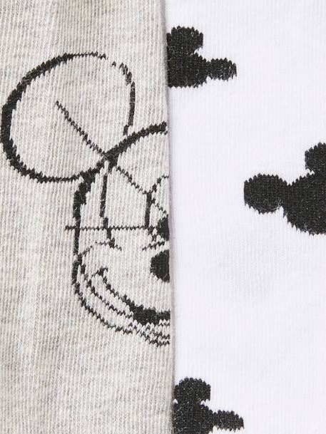 Pack of 2 Pairs of Mickey® socks GREY MEDIUM SOLID WITH DESIGN