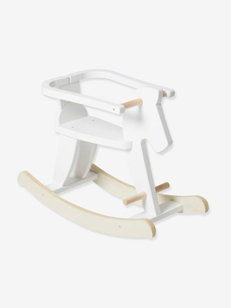 Wooden Rocking Horse WHITE BRIGHT 2 COLOR/MULTICOL