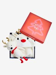 Furniture & Bedding-Baby Bedding-Blankets & Bedspreads-Gift Box with Blanket-Type Cape + Snow Reindeer Baby Comforter