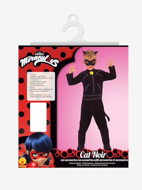 Miraculous Cat Noir Costume, by RUBIES BLACK BRIGHT SOLID WITH DESIGN