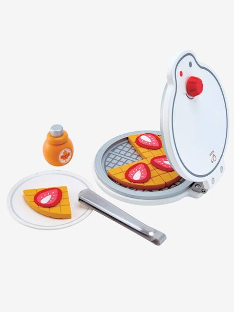 My First Waffle Maker in Wood, by HAPE WHITE MEDIUM SOLID WITH DESIGN