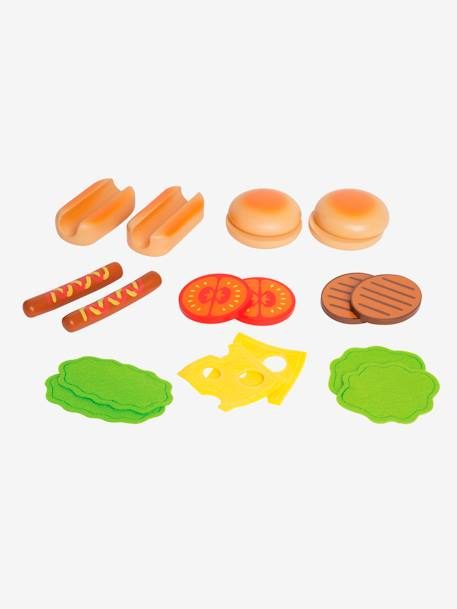 Wooden Hamburgers & Hotdogs, by HAPE NO COLOR