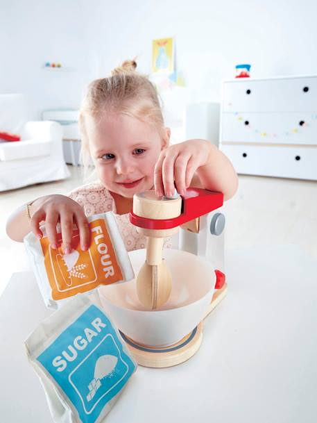Wooden Mix & Bake Blender, by HAPE WHITE MEDIUM SOLID WITH DESIGN