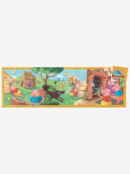 The 3 Little Pigs Puzzle, 24 pieces, by DJECO BEIGE MEDIUM SOLID WITH DECOR