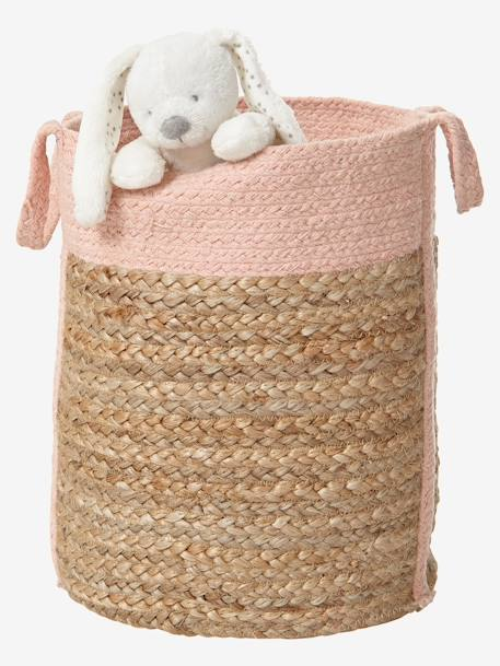 Wicker Basket Wicker/pink