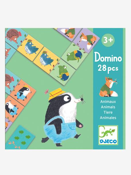 Animal Dominoes, by DJECO BEIGE MEDIUM SOLID WITH DECOR