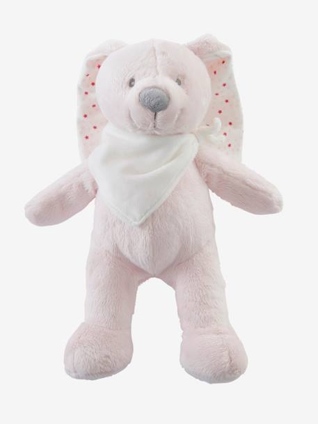 Plush Bunny Soft Toy with Gift Box Grey+Pink+White