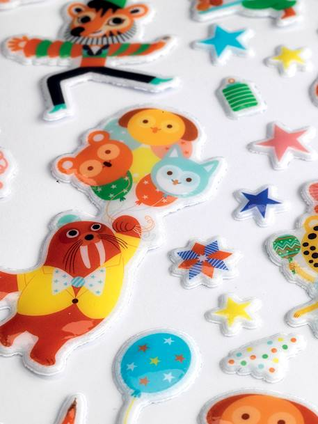 'Party' Easy-to-Peel Stickers, by DJECO BEIGE MEDIUM SOLID WITH DECOR