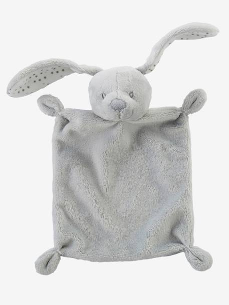 Bunny Blanket Soft Toy with Gift Box Grey+Pink