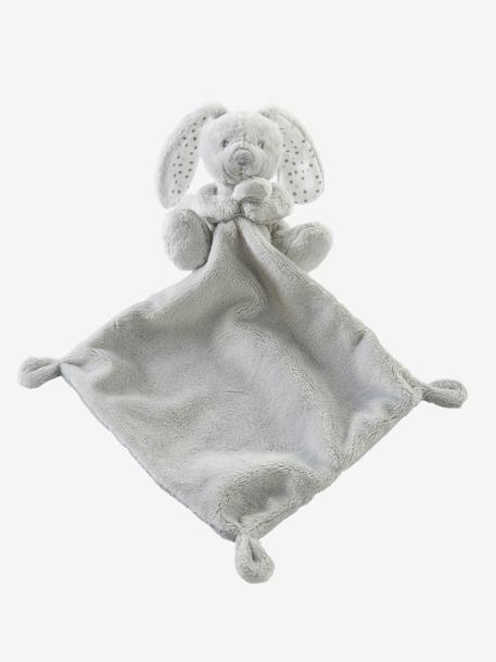 Plush Bunny Soft Toy & Blanket Gift Set Grey+Pink