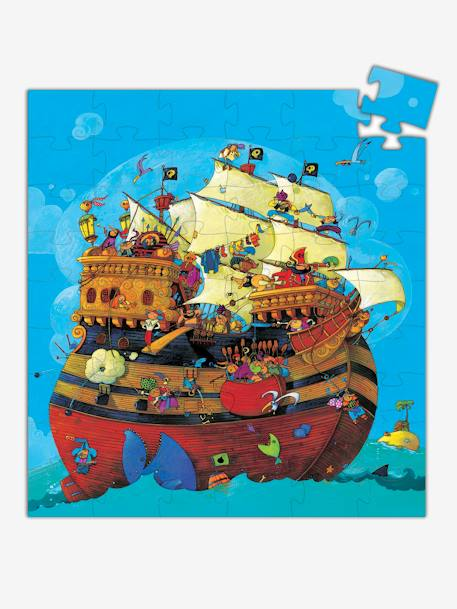 Barbarossa's Boat Puzzle, 54 pieces, by DJECO BEIGE MEDIUM SOLID WITH DECOR