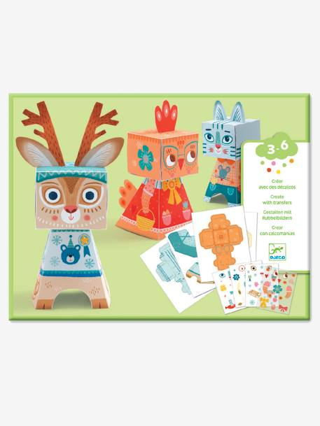 Create Animals with Transfers, by DJECO BEIGE MEDIUM SOLID WITH DECOR