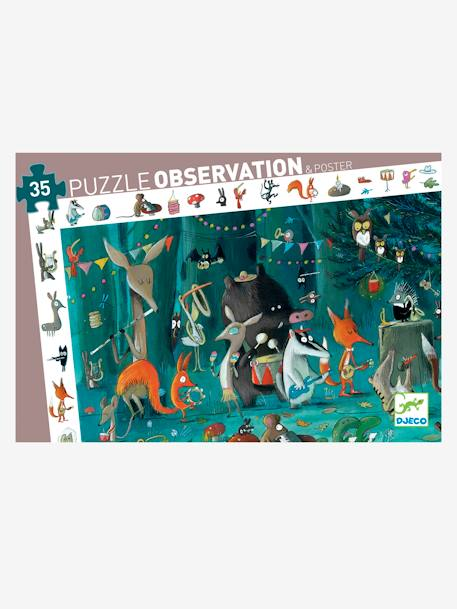 Observation Puzzle The Orchestra, 35 Pieces, by DJECO BEIGE MEDIUM SOLID WITH DECOR