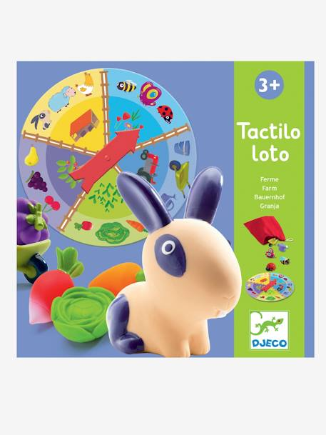 Tactile Farm Lotto, by DJECO BEIGE MEDIUM SOLID WITH DECOR