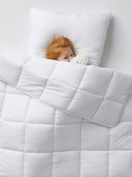Extra-warm Duvet, Easy to Wash WHITE LIGHT SOLID