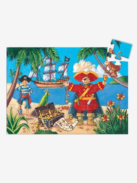 The Pirate & His Treasure 36-Piece Puzzle, by DJECO BEIGE MEDIUM SOLID WITH DECOR
