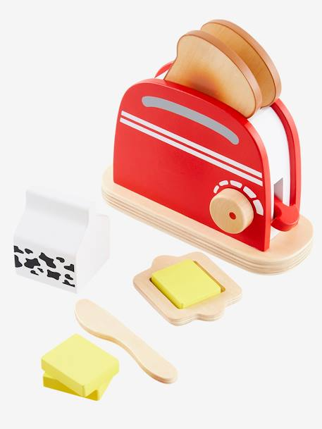 Wooden Toaster Set BLUE LIGHT TWO COLOR/MULTICOL