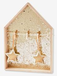 Storage & Decoration-Decoration-Wall Décor-House Picture Board in Gold Sequins