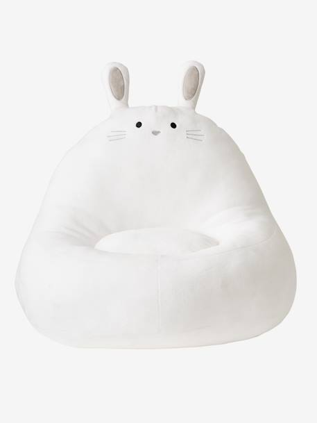 Rabbit Armchair with Faux-Fur WHITE LIGHT SOLID
