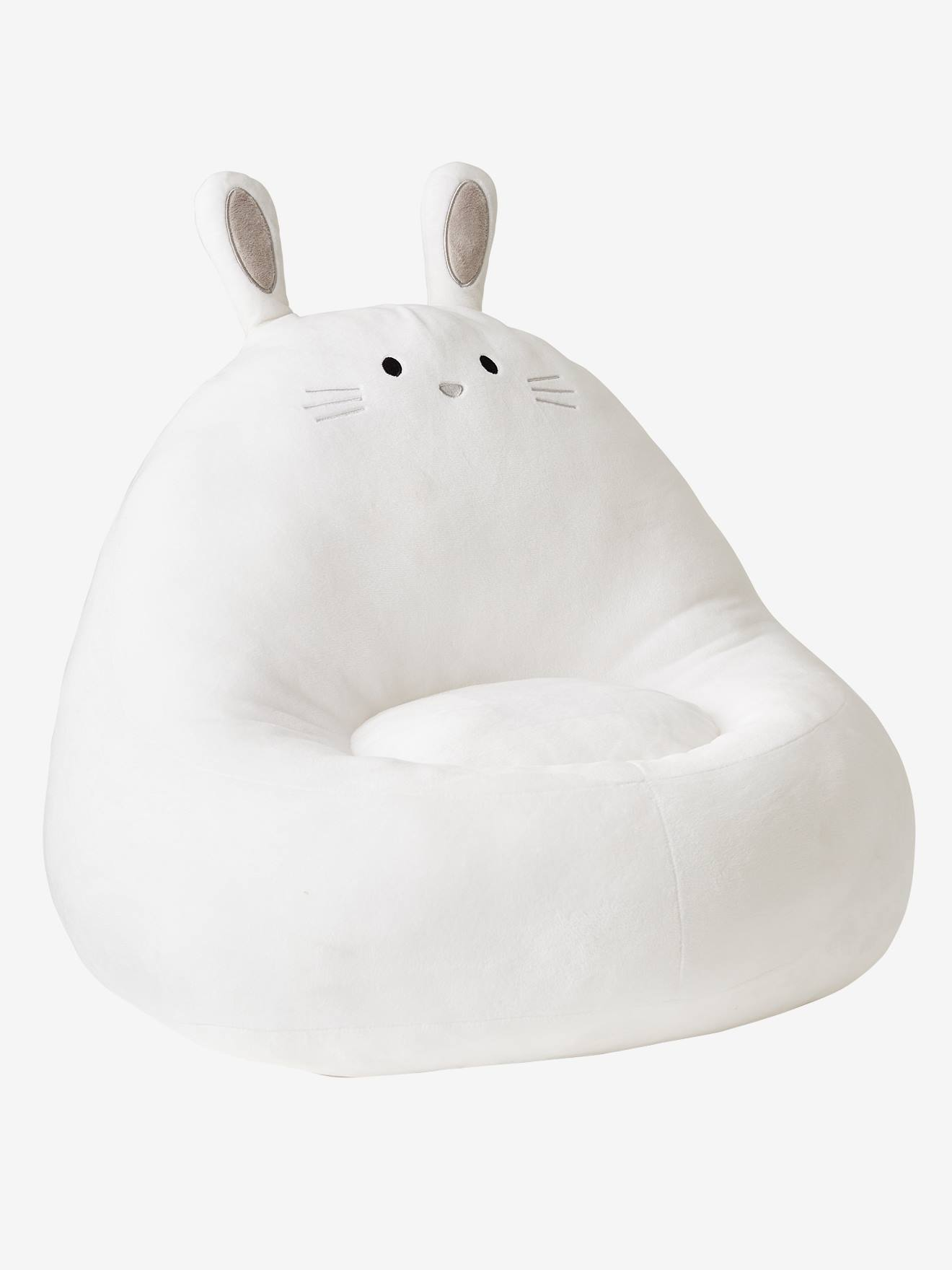 Rabbit Armchair with Faux Fur white light solid, Bedroom Furniture & Storage | Vertbaudet