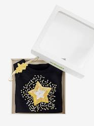 Girls-Cardigans, Jumpers & Sweatshirts-Jumpers-Magic Star Gift Set for Girls: Jumper with Sequins + Headband