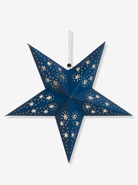 3 Christmas Stars in Openwork Paper BLUE LIGHT TWO COLOR/MULTICOL