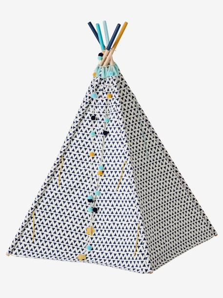 Reversible Teepee, Sioux WHITE LIGHT SOLID WITH DESIGN