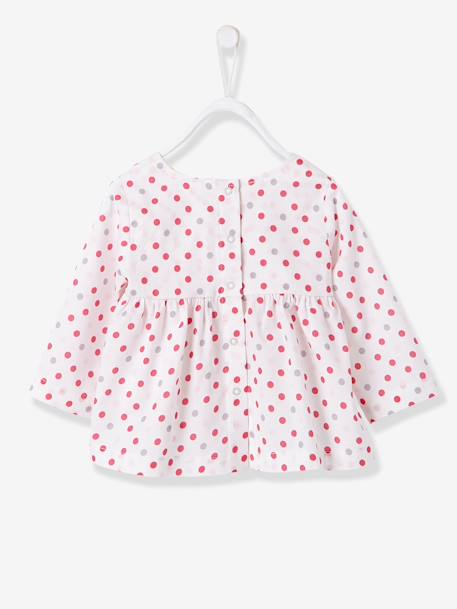 Baby Girls Printed Blouse & Trousers Outfit Set Printed pale pink