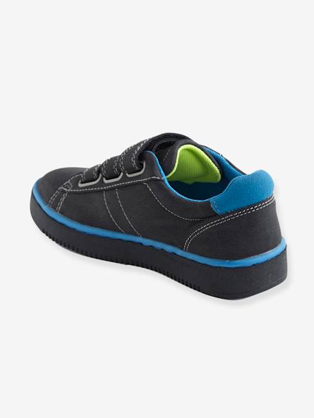 Trainers with Touch 'N' Close Strap for Boys BLACK MEDIUM SOLID+GREY MEDIUM SOLID+WHITE MEDIUM SOLID WITH DESIGN
