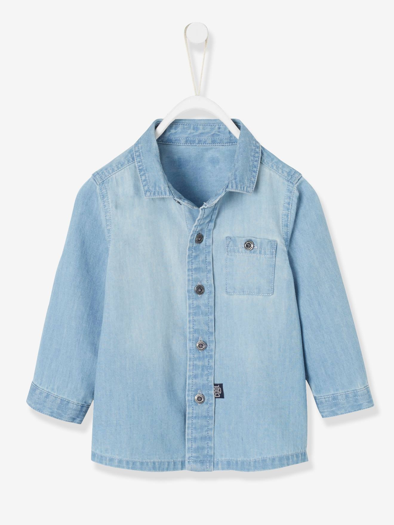 0502cb566 Denim Shirt for Baby Boys - blue light wasched