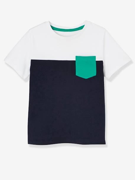 Pack of 3 Short-Sleeved T-Shirts for Boys BLUE DARK TWO COLOR/MULTICOL+WHITE LIGHT TWO COLOR/MULTICOL