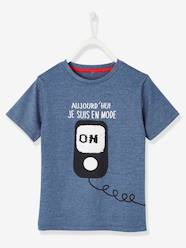 Boys-Tops-T-shirt with Fun Message & Reversible Sequins, for Boys