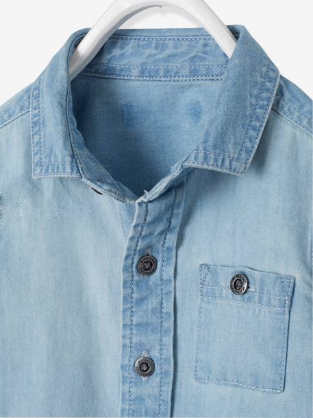 Denim Shirt for Baby Boys BLUE LIGHT WASCHED