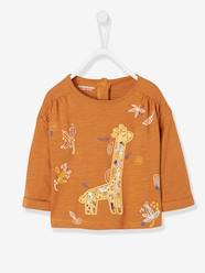 Baby-Top with Large Giraffe Motif for Baby Girls