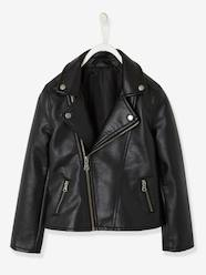 Girls-Coats & Jackets-Biker-Style Jacket for Girls