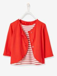Girls-Tops-T-Shirt for Girls, 2-in-1 Effect