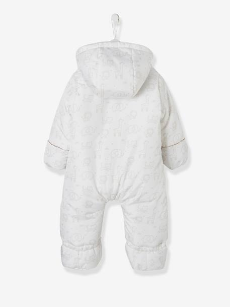 Convertible Baby Snowsuit Ink+WHITE LIGHT SOLID WITH DESIGN