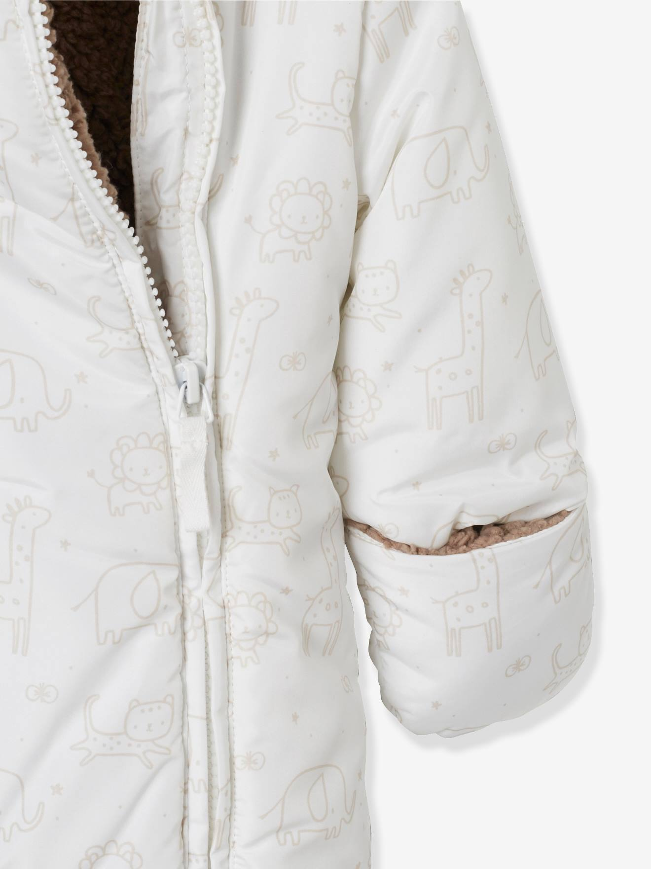 13874567e Convertible Baby Snowsuit - pink light all over printed