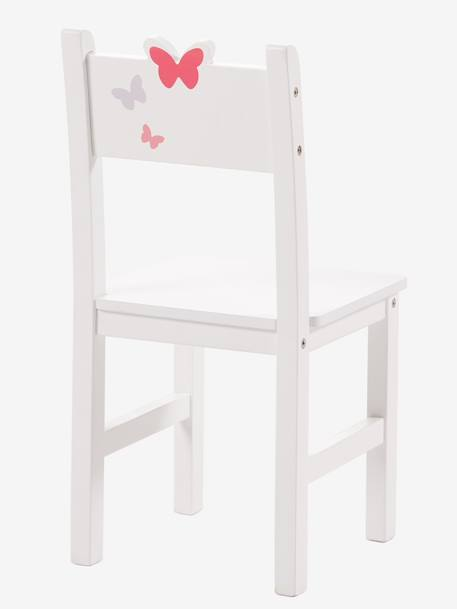 Pre-School Chair, 30 cm Seat Height, Flight Theme WHITE LIGHT SOLID WITH DESIGN