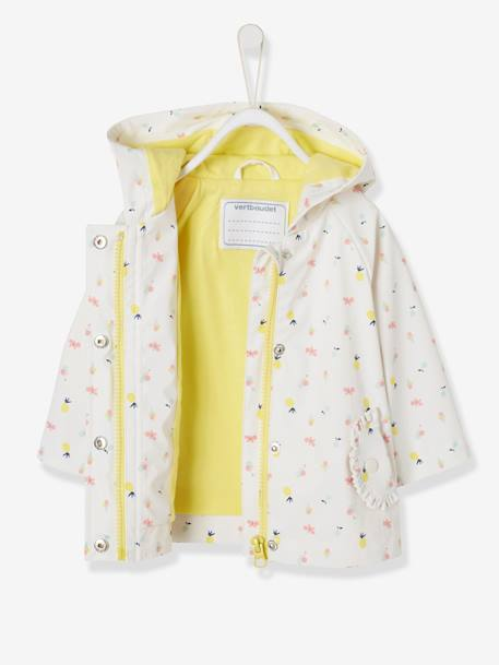 Raincoat with Hood and Motifs for Baby Girls BLUE DARK ALL OVER PRINTED+PINK LIGHT ALL OVER PRINTED+WHITE LIGHT ALL OVER PRINTED