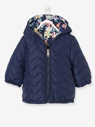 Baby-Outerwear-Light Reversible Jacket with Motifs for Baby Girls