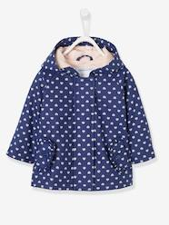 Baby-Outerwear-Raincoat with Hood and Motifs for Baby Girls