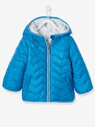 Baby-Outerwear-Reversible Jacket with Hood for Baby Boys