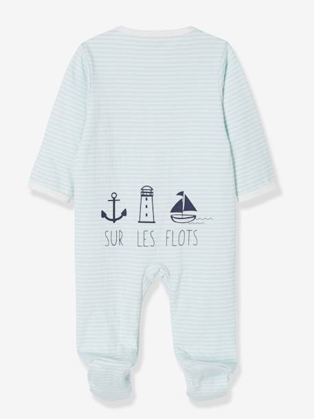 Pack of 2 Sleepsuits for Newborn Baby Boys, 'Sur Les Flots' BLUE LIGHT TWO COLOR/MULTICOL