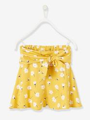 Girls-Printed Skirt for Girls with Tie Belt