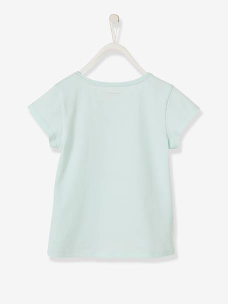 Magical T-Shirt for Girls with Reversible Sequins and Glitter GREEN LIGHT SOLID WITH DESIGN